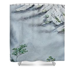 Shower Curtain featuring the painting Morning Mist 2 by Amelie Simmons