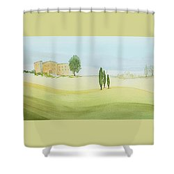 Morning Mist Shower Curtain by Bonnie Rabert