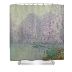 Morning Mist Shower Curtain by Gustave Loiseau