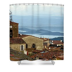 Morning Mist In Provence Shower Curtain