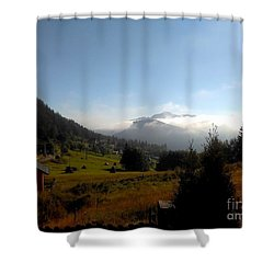 Morning Mist In The Magical Valley Shower Curtain