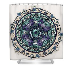 Morning Mist Mandala Shower Curtain