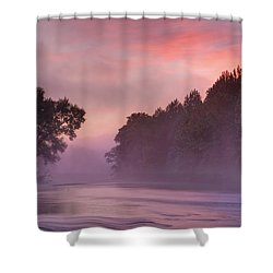 Morning Mist Shower Curtain by Robert Charity