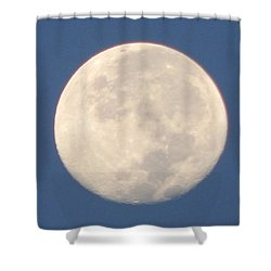 Shower Curtain featuring the photograph Morning Moon by Barbara Tristan