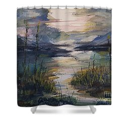 Morning Mountain Cove Shower Curtain