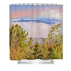 Morning Mountain View Northern New Hampshire. Shower Curtain