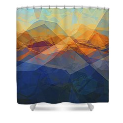 Morning Mountain View Shower Curtain
