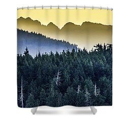 Morning Mountains Shower Curtain