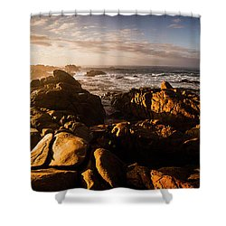 Morning Ocean Panorama Shower Curtain by Jorgo Photography - Wall Art Gallery