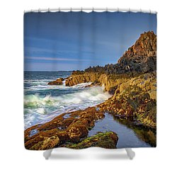 Shower Curtain featuring the photograph Morning On Bailey Island by Rick Berk