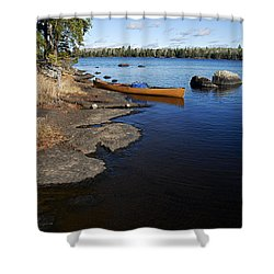 Morning On Hope Lake Shower Curtain