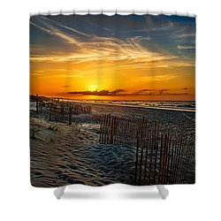 Morning On The Bogue Banks Shower Curtain