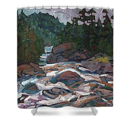 Morning On The Grande Chute Shower Curtain