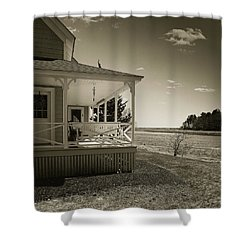 Shower Curtain featuring the photograph Morning On The Marsh by Samuel M Purvis III