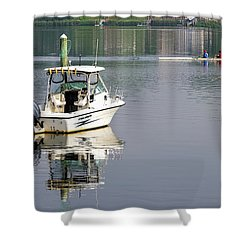 Shower Curtain featuring the photograph Morning On The Navesink River 2 by Gary Slawsky