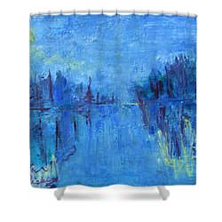 Morning On The Point Shower Curtain by Betty Pieper