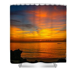 Morning On The Water Shower Curtain by Tom Claud