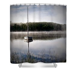 Morning On White Sand Lake Shower Curtain by Lauren Radke
