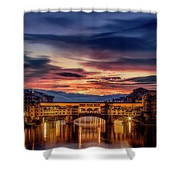 Shower Curtain featuring the photograph Morning Panorama In Florence by Andrew Soundarajan