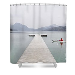 Morning Patrol Shower Curtain by JR Photography