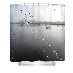 Morning Pearls Shower Curtain