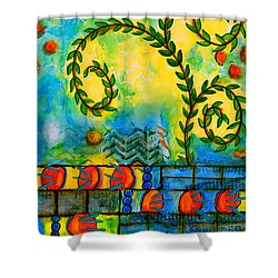 Morning Prayer Shower Curtain by Angela L Walker