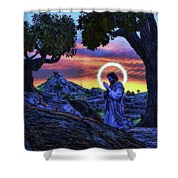 Morning Prayers Shower Curtain
