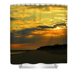 Morning Rays Over Cape Cod Shower Curtain by Dianne Cowen