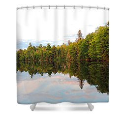 Shower Curtain featuring the photograph Morning Reflection by Teresa Schomig