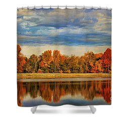Morning Reflections Shower Curtain by Darren Fisher