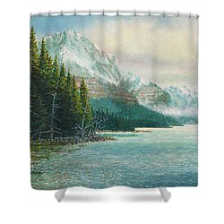 Morning Ride Shower Curtain by Douglas Castleman