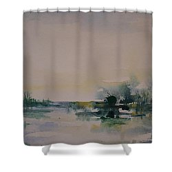 Morning River Abstract Shower Curtain