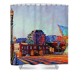 Morning Rush - The Corner Of Salem Avenue And Williamson Road In Roanoke Virginia Shower Curtain