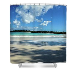 Morning Shadows Ile Des Pins Shower Curtain