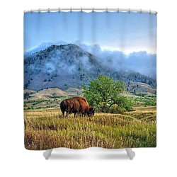 Morning Shift Shower Curtain