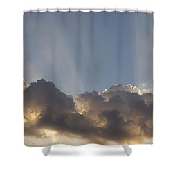 Shower Curtain featuring the photograph Morning Sky by Inge Riis McDonald