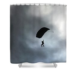 Morning Skydive Shower Curtain