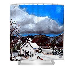 Morning Snow Ministry Shower Curtain