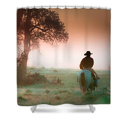 Morning Solitude Shower Curtain by Toni Hopper