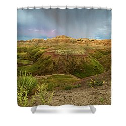 A Distant Strike Shower Curtain