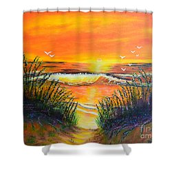Morning Sun Shower Curtain by Melvin Turner