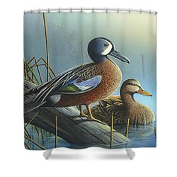 Shower Curtain featuring the painting Morning Sun by Mike Brown