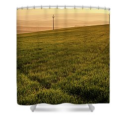 Shower Curtain featuring the photograph Morning Sun. Moravian Tuscany by Jenny Rainbow