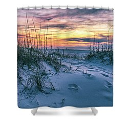 Shower Curtain featuring the photograph Morning Sunrise At The Beach by John McGraw