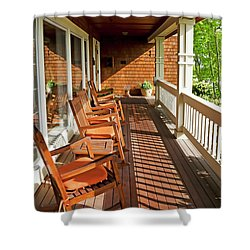 Morning Sunshine On The Porch Shower Curtain