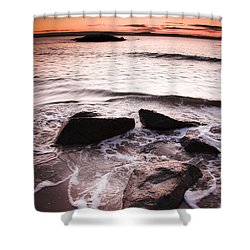 Shower Curtain featuring the photograph Morning Tide by Jorgo Photography - Wall Art Gallery