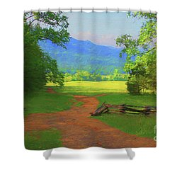 Morning View Shower Curtain by Geraldine DeBoer