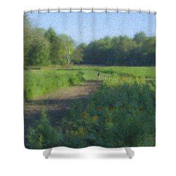 Morning Walk At Langwater Farm Shower Curtain