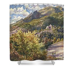 Morning Walk At Mount Sanitas Shower Curtain