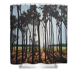 Morning Walk. Shower Curtain